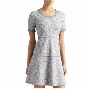 ATHLETA XST En Route Fit N Flare Ponte Dress Gray